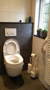 toiletverhoger en wandbeugel